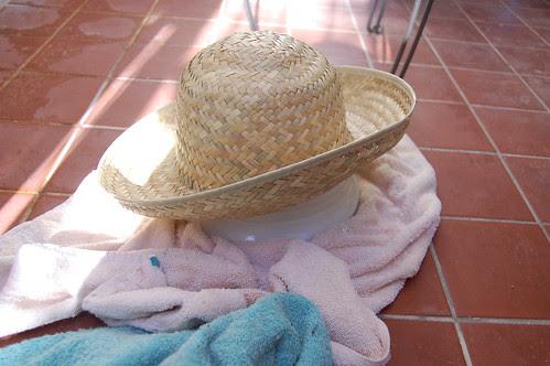 Hat in progress