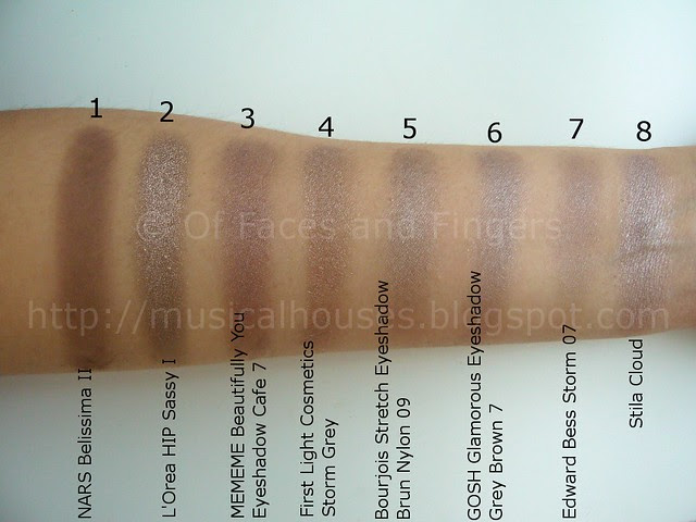 taupe eyeshadow swatches