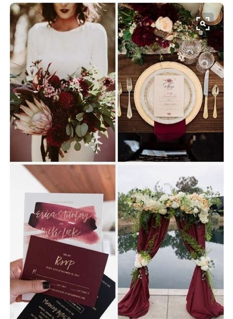 Burgundy and Rose Gold   Wedding Style and decoration in