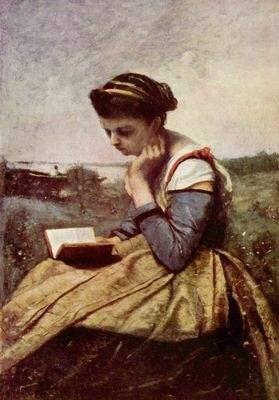 Camille Corot Lesende Frau