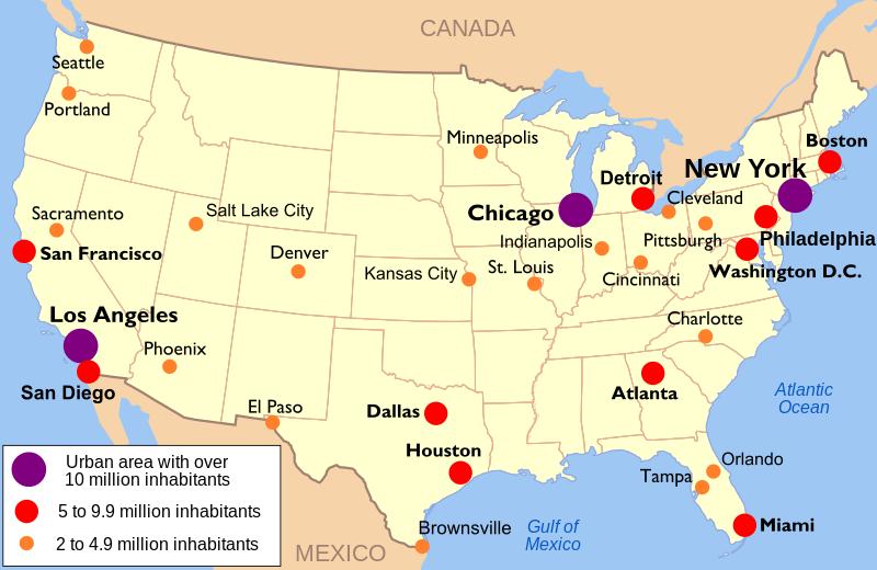 Liste Städte Usa