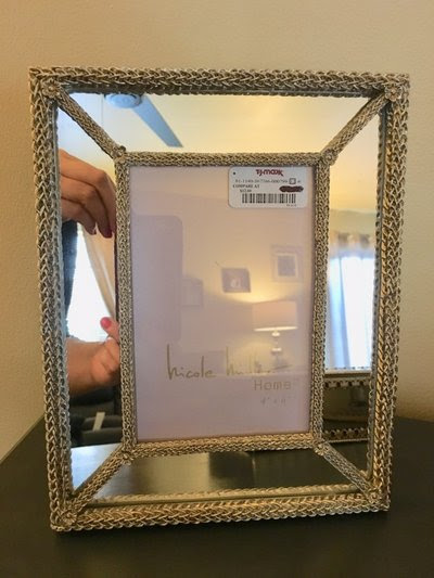 New Nicole Miller Home Mirrored Picture Frame Home Decor For Sale