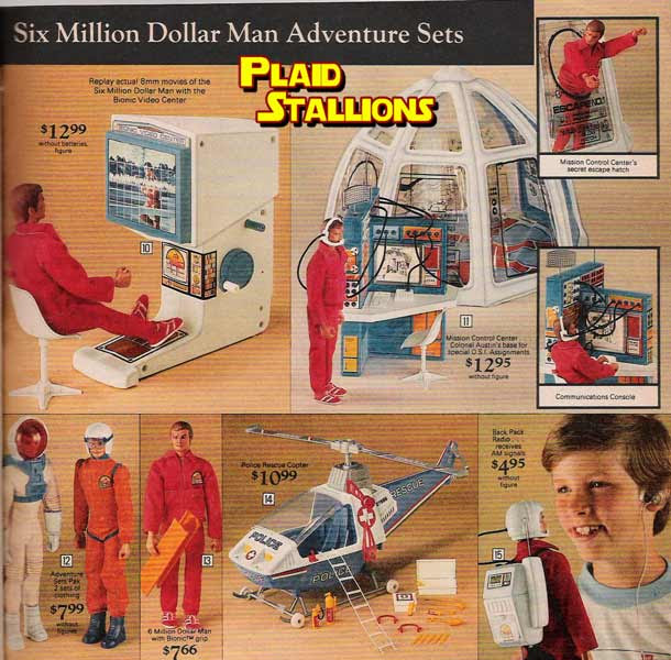 six million dollar man toys by Kenner
