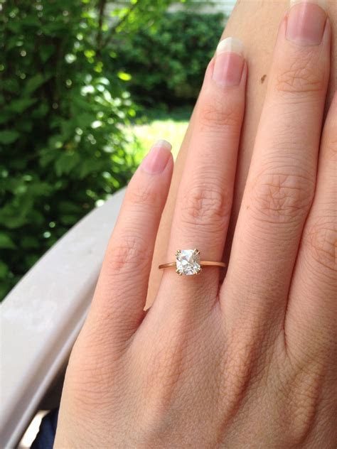 1.49 L/VS1 August Vintage Cushion diamond solitaire with