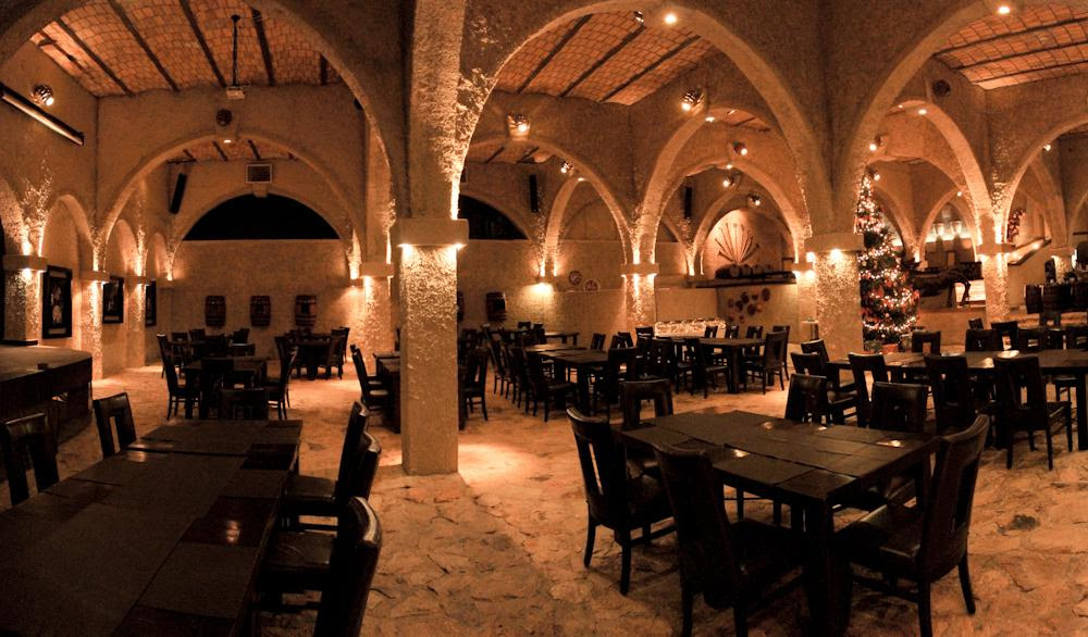 There's also a restaurant in an underground cave. Credit: Matices Hotel de Barrica/Booking.com