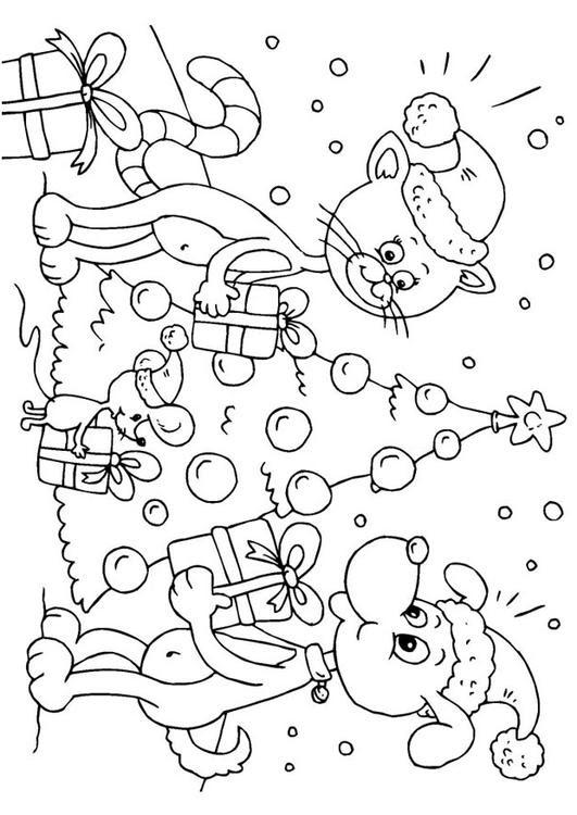 Dibujo Para Colorear Navidad Para Animales Img 23373