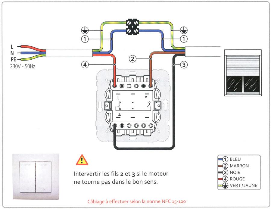 branchement interrupteur volet roulant siemens. Black Bedroom Furniture Sets. Home Design Ideas