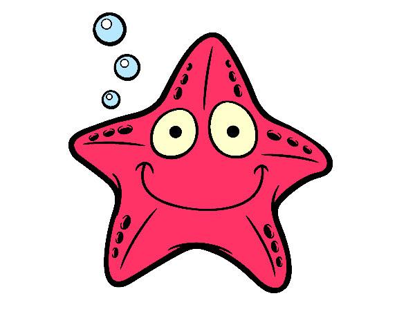 Dibujo De Estrella Marina Pintado Por Janetth En Dibujos Net El Dia