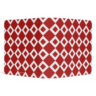 Red and White Diamond Pattern Binders