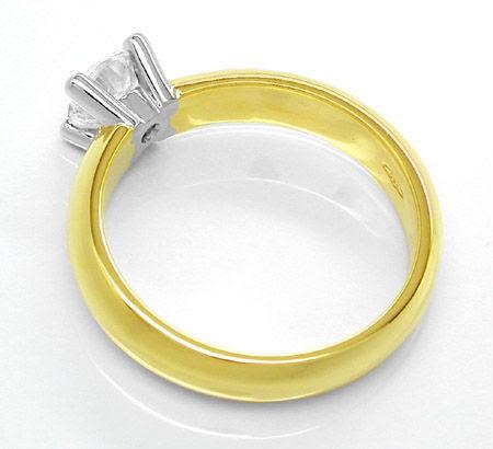 Foto 2, Neu! 1A! Brillant-Solitär-Ring River 18K Bicolor Luxus!, S8621