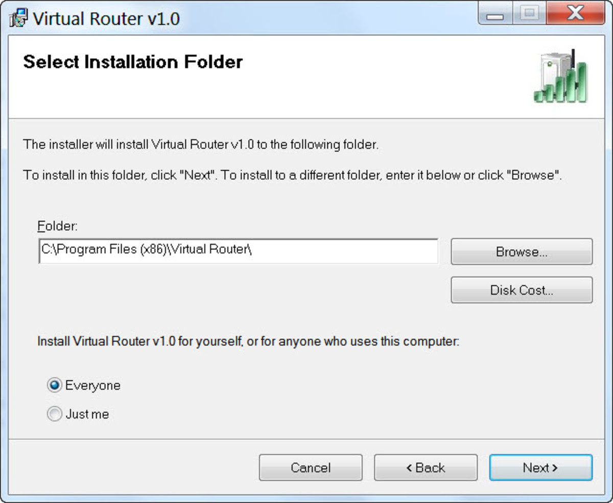 Virtual Router Setup