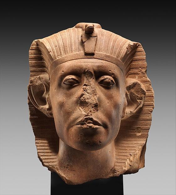 Head of a Colossal Statue of Senwosret III