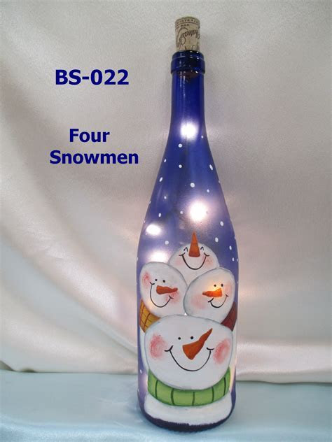 Snowman Bottles ? Standard   Joyce's Country Painting