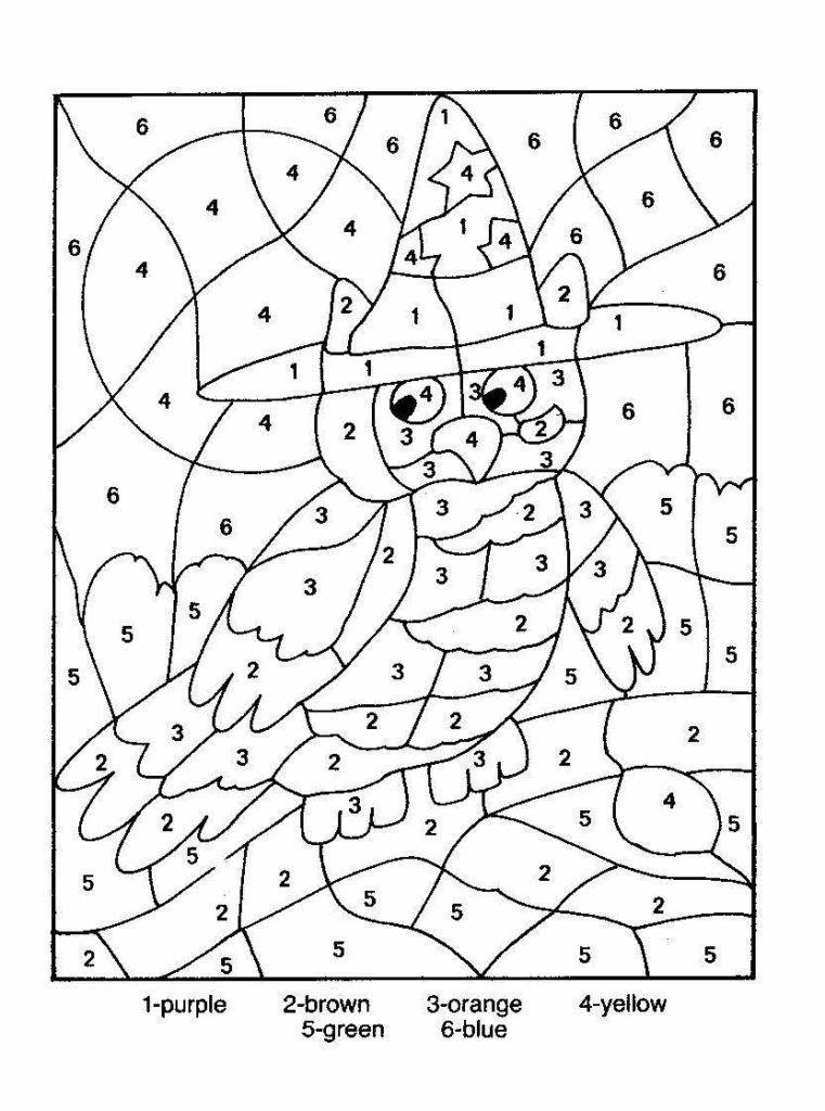 Difficult Color By Number Printables - Coloring Home