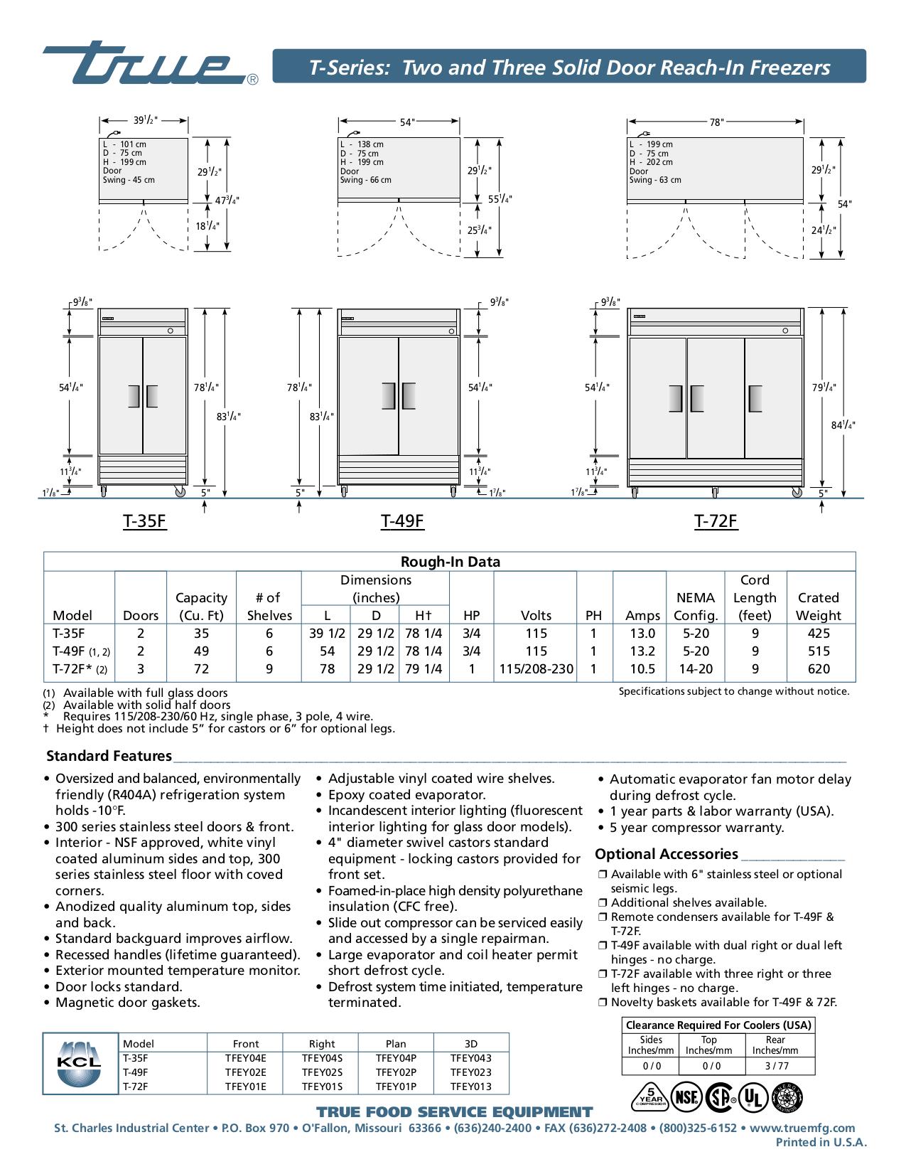 33 True T 49f Wiring Diagram