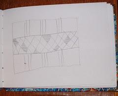 raffia mat sketch