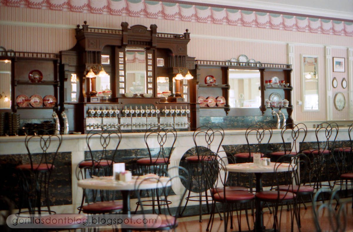 GORILLAS DON'T BLOG: Carnation Ice Cream Parlor, 1996