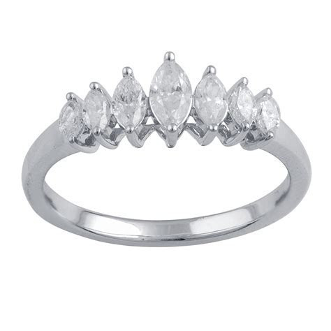 Tradition Diamond 10K White Gold 1/2 ct.tw. Marquise