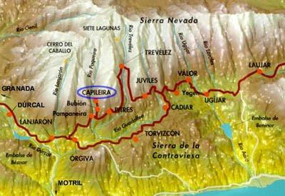 Mapa De La Alpujarra.Mapa Alpujarra Mapa