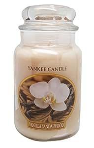 Yankee Candle, Large 22-oz. Jar Candle, Vanilla Sandalwood ...