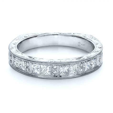 Custom Princess Cut Diamond Women's Wedding Band #1134