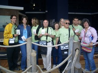 Charles,Teresa, Chris, Sheila, Mark, Jamie, Bob and Sue touring museums in San Francisco