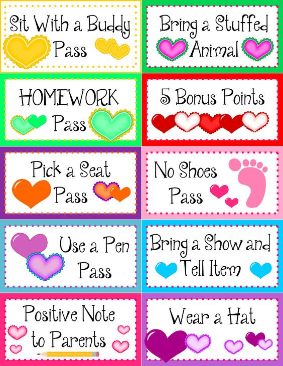 Such a good idea! Can change passes based on the grade level ...