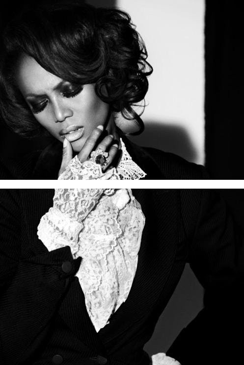 Tyra Banks in Vogue Italia