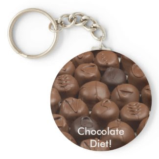 Say it with Chocolate! keychain