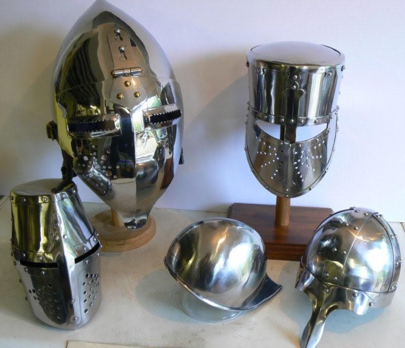 Medieval Helms, miniature