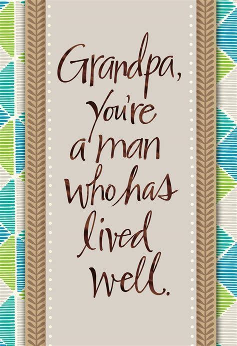 Life Well Lived Grandpa Birthday Card   Greeting Cards