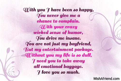 With You I Have Been So Happy Poem For Boyfriend