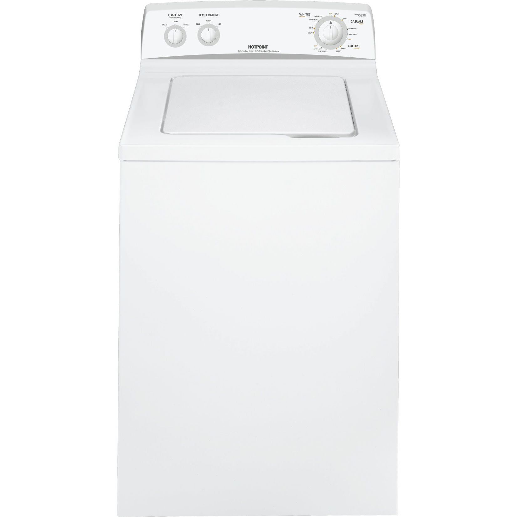"UPC Hotpoint HSWP1000MWW 27"" Top Load Washer with 3 5"