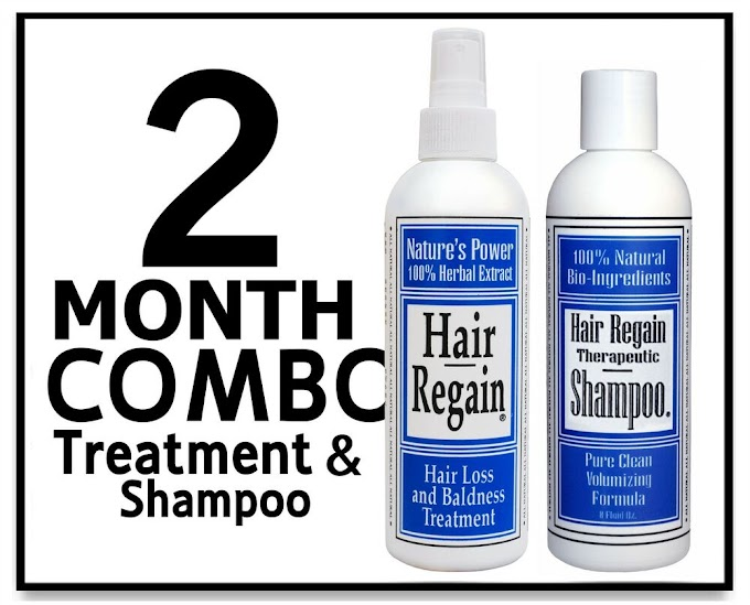 2 month HAIR REGAIN COMBO treatment shampoo receding line scalp growth loss men eBay