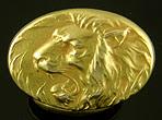 Krementz roaring lion cufflinks. (J9391)