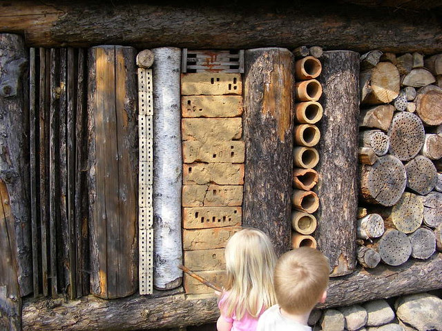 insect hotel SBB Netherlands, detail