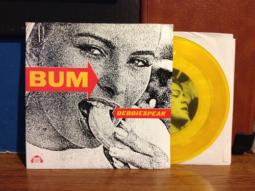 "Bum - Debbiespeak 7"" - Yellow Vinyl by Tim PopKid"