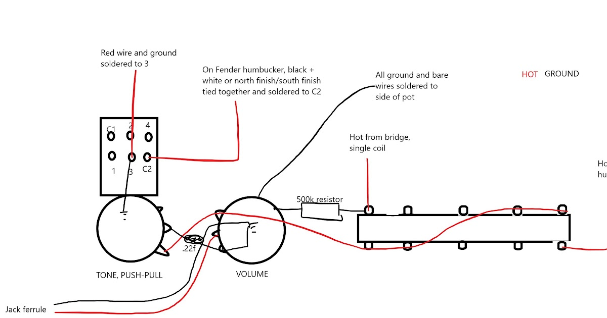 With Push Pull Tone Pot Wiring Diagram   Coil Splitting A