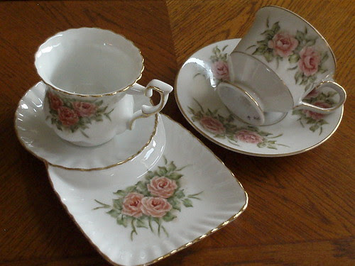 tea cup and tray