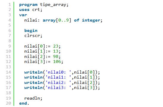 13 Tipe Data dalam Pemrograman Komputer oleh - hobicoding.xyz