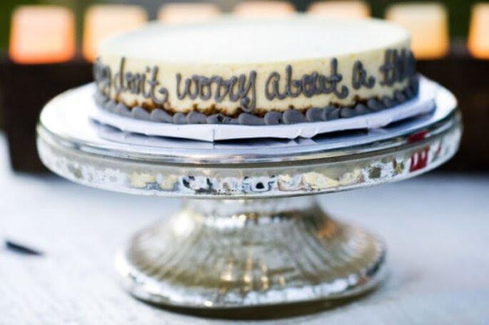Pastel de boda pequeño, uno de una serie de pasteles.