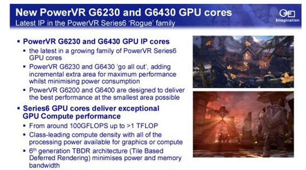 Imagination goes 'all out' with bigger PowerVR graphics cores: the G6230 and G6430
