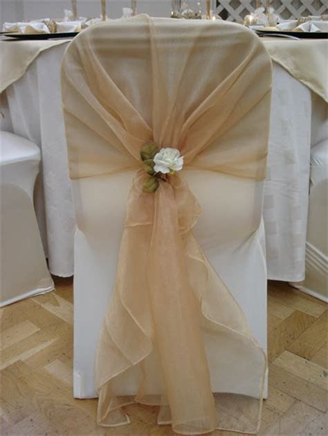 chair covers and sashes champagne gold     Chair Covers