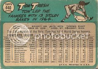 #440 Tom Tresh (back)