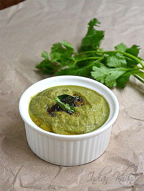 Coconut Coriander Chutney Side dish for Idli-Dosa