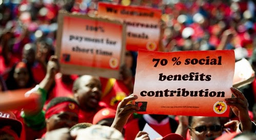 The South African National Metalworkers Union (NUMSA) has reached a wage agreement with the automotive service sector bosses. by Pan-African News Wire File Photos