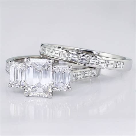 We recently finished this Stunning 3 Stone Emerald Cut