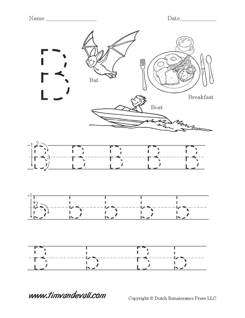 Letter B Worksheet Tim Van De Vall