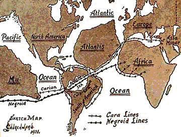 Resultado de imagen para mapa lemuria y atlantida