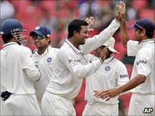 India celebrate in Bangalore